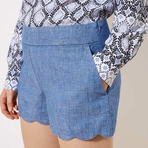 Ann Taylor LOFT Shorts | LOFT Scalloped Shorts